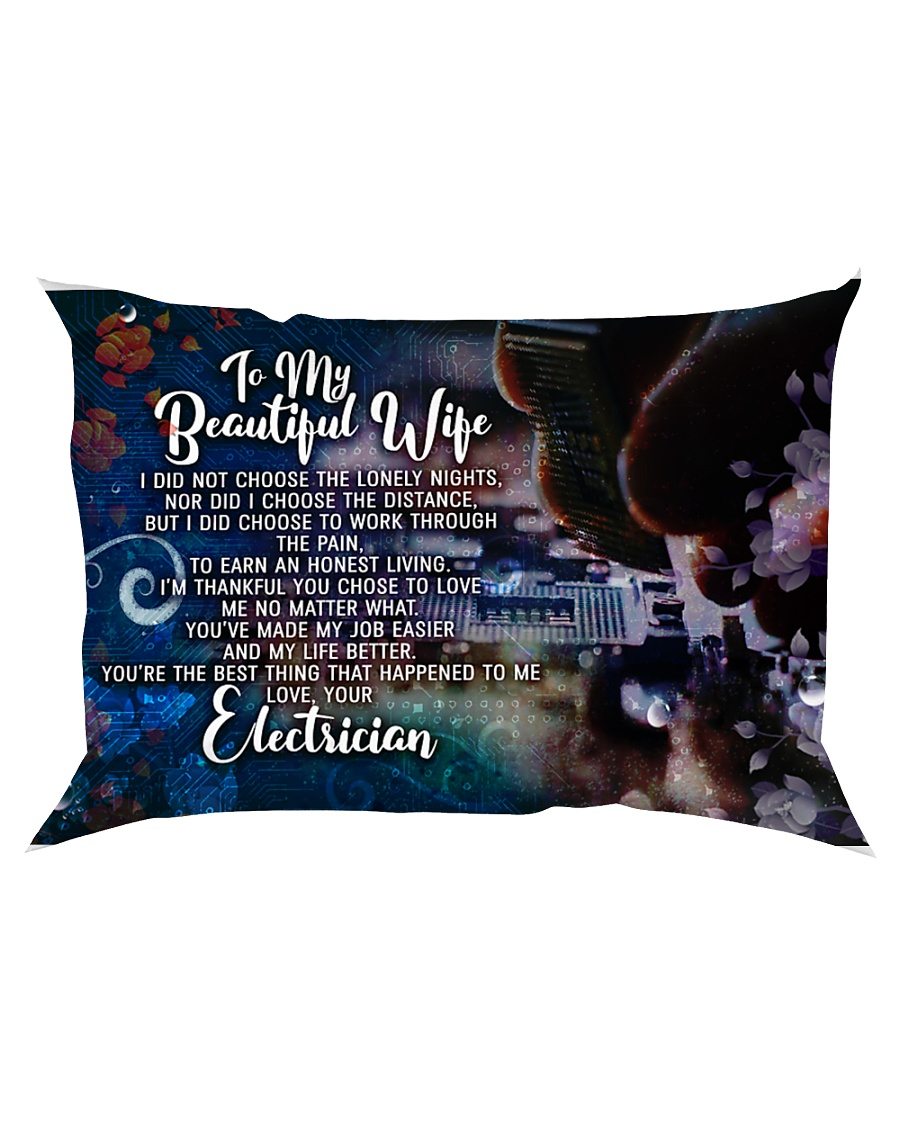 GIFT FOR AN ELECTRICIAN'S WIFE - PREMIUM Rectangular Pillowcase