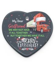 Trucker's Girlfriend - Heart ornament - single (porcelain) front