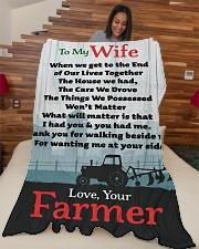 "Farmer's Wife  Premium Large Fleece Blanket - 60"" x 80"" aos-coral-fleece-blanket-60x80-lifestyle-front-04"
