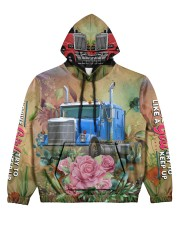 Lady Trucker Women's All Over Print Hoodie front