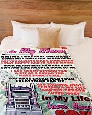 "Trucker's Mom  Premium Large Fleece Blanket - 60"" x 80"" aos-coral-fleece-blanket-60x80-lifestyle-front-02"