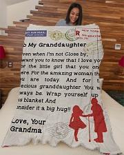 "Gift for Granddaughter  Premium Large Fleece Blanket - 60"" x 80"" aos-coral-fleece-blanket-60x80-lifestyle-front-04"