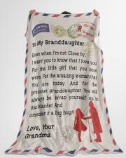"Gift for Granddaughter  Premium Large Fleece Blanket - 60"" x 80"" aos-coral-fleece-blanket-60x80-lifestyle-front-10"