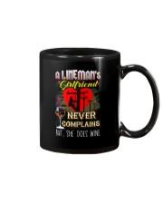 LINEMAN'S  GIRLFRIEND LOVES WINE Mug thumbnail