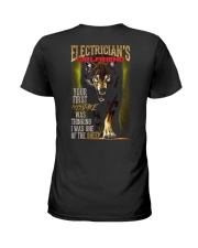 ELECTRICIAN'S  GIRLFRIEND - I'M THE WOLF   Ladies T-Shirt thumbnail