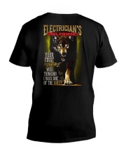 ELECTRICIAN'S  GIRLFRIEND - I'M THE WOLF   V-Neck T-Shirt thumbnail