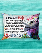 GIFT FOR A PILOT'S WIFE- PREMIUM Rectangular Pillowcase aos-pillow-rectangle-front-lifestyle-5