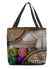 KNITTING All-over Tote back