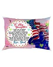 GIFT FOR A VETERAN'S DAUGHTER - PREMIUM Rectangular Pillowcase front