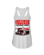 Retired Trucker Ladies Flowy Tank thumbnail