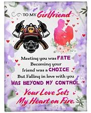 """Firefighter's Girlfriend  Premium Large Fleece Blanket - 60"""" x 80"""" front"""