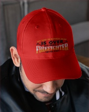 RETIRED FIREFIGHTER Embroidered Hat garment-embroidery-hat-lifestyle-02