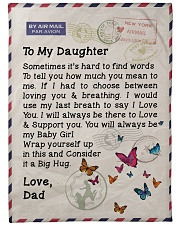 "Gift For Daughter  Premium Large Fleece Blanket - 60"" x 80"" front"