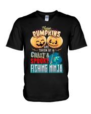 FISHING NINJA'S GIRL V-Neck T-Shirt thumbnail
