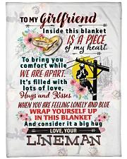 """LINEMAN'S GIRLFRIEND- PREMIUM Large Fleece Blanket - 60"""" x 80"""" front"""