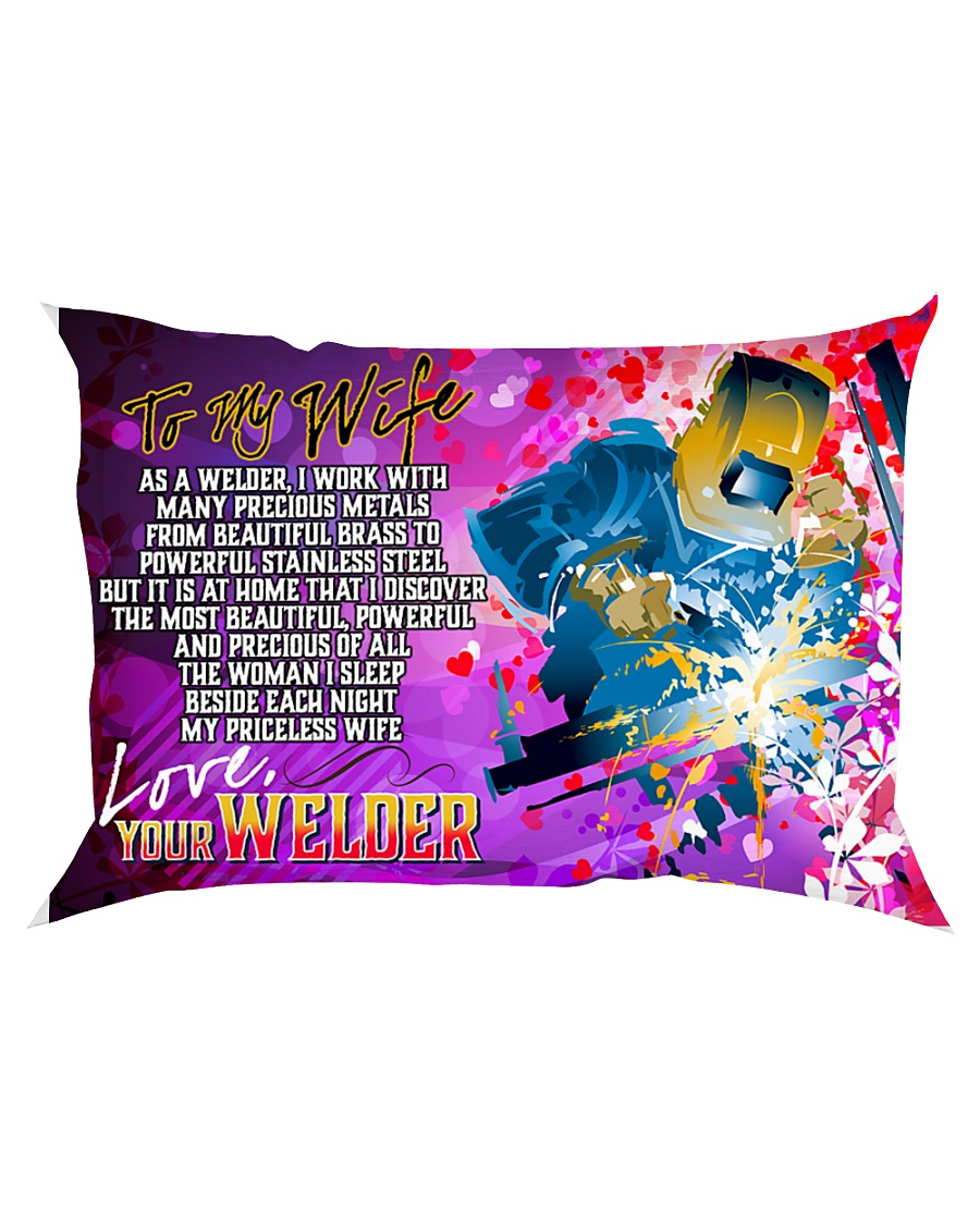 GIFT FOR A WELDER'S WIFE  - PREMIUM Rectangular Pillowcase