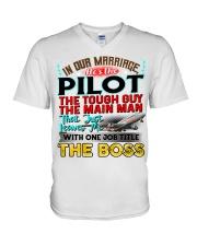 Pilot's Wife V-Neck T-Shirt thumbnail