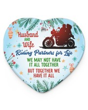 Biker's Wife - Heart ornament - single (porcelain) front