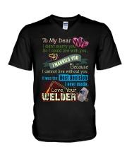 WELDER'S WIFE  V-Neck T-Shirt thumbnail