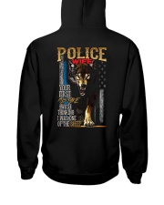POLICE OFFICER'S WIFE - I'M THE WOLF   Hooded Sweatshirt back