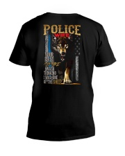 POLICE OFFICER'S WIFE - I'M THE WOLF   V-Neck T-Shirt thumbnail