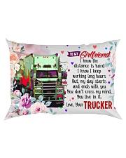 GIFT FOR A TRUCKER'S GIRLFRIEND- PREMIUM Rectangular Pillowcase back
