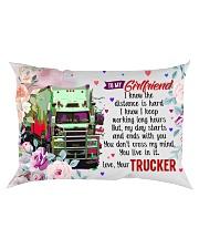 GIFT FOR A TRUCKER'S GIRLFRIEND- PREMIUM Rectangular Pillowcase front