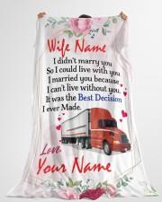 "Trucker's Wife Large Fleece Blanket - 60"" x 80"" aos-coral-fleece-blanket-60x80-lifestyle-front-10"