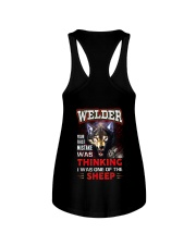 Welder - I'm the Wolf Ladies Flowy Tank thumbnail