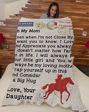 """Gift For Mom Large Fleece Blanket - 60"""" x 80"""" aos-coral-fleece-blanket-60x80-lifestyle-front-04"""