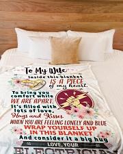 "ELECTRICIAN'S WIFE- PREMIUM Large Fleece Blanket - 60"" x 80"" aos-coral-fleece-blanket-60x80-lifestyle-front-02"