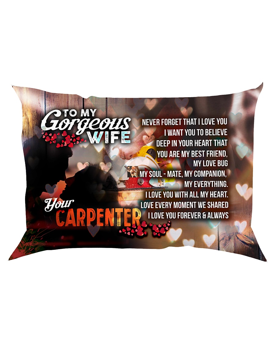 GIFT FOR A CARPENTER'S  WIFE - PREMIUM Rectangular Pillowcase