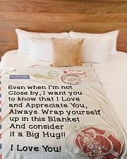 "Firefighter's Girl  Premium Large Fleece Blanket - 60"" x 80"" aos-coral-fleece-blanket-60x80-lifestyle-front-02"