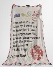 "Firefighter's Girl  Premium Large Fleece Blanket - 60"" x 80"" aos-coral-fleece-blanket-60x80-lifestyle-front-10"