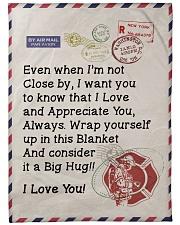 """Firefighter's Girl  Premium Large Fleece Blanket - 60"""" x 80"""" front"""