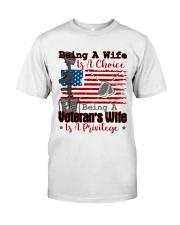 VETERAN'S WIFE Classic T-Shirt front