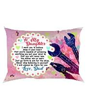 GIFT FOR A MECHANIC'S DAUGHTER - PREMIUM Rectangular Pillowcase back