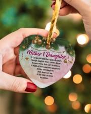 Gift For Mom - Heart ornament - single (porcelain) aos-heart-ornament-single-porcelain-lifestyles-08