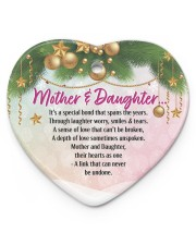 Gift For Mom - Heart ornament - single (porcelain) front