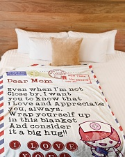 "Nurse's Mom Premium Large Fleece Blanket - 60"" x 80"" aos-coral-fleece-blanket-60x80-lifestyle-front-02"