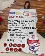 "Nurse's Mom Premium Large Fleece Blanket - 60"" x 80"" aos-coral-fleece-blanket-60x80-lifestyle-front-04"