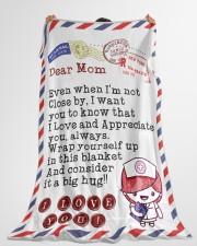 "Nurse's Mom Premium Large Fleece Blanket - 60"" x 80"" aos-coral-fleece-blanket-60x80-lifestyle-front-10"
