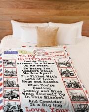 "FARMER'S GIRLFRIEND- PREMIUM Large Fleece Blanket - 60"" x 80"" aos-coral-fleece-blanket-60x80-lifestyle-front-02"