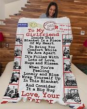 "FARMER'S GIRLFRIEND- PREMIUM Large Fleece Blanket - 60"" x 80"" aos-coral-fleece-blanket-60x80-lifestyle-front-04"