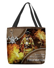 FIREFIGHTER'S GIRL All-over Tote front