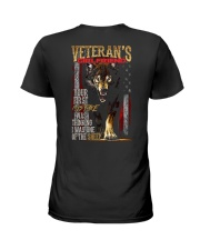 VETERAN'S  GIRLFRIEND - I'M THE WOLF   Ladies T-Shirt thumbnail