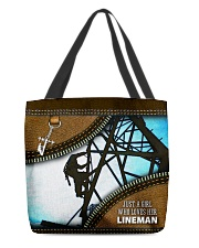 LINEMAN'S GIRL All-over Tote front