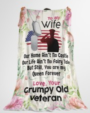 "Veteran's Wife - Cyber Monday Sale Large Fleece Blanket - 60"" x 80"" aos-coral-fleece-blanket-60x80-lifestyle-front-10"