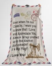 "Oilfield Man's Wife  Premium Large Fleece Blanket - 60"" x 80"" aos-coral-fleece-blanket-60x80-lifestyle-front-10"