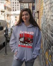 Old Trucker Hooded Sweatshirt lifestyle-unisex-hoodie-front-1